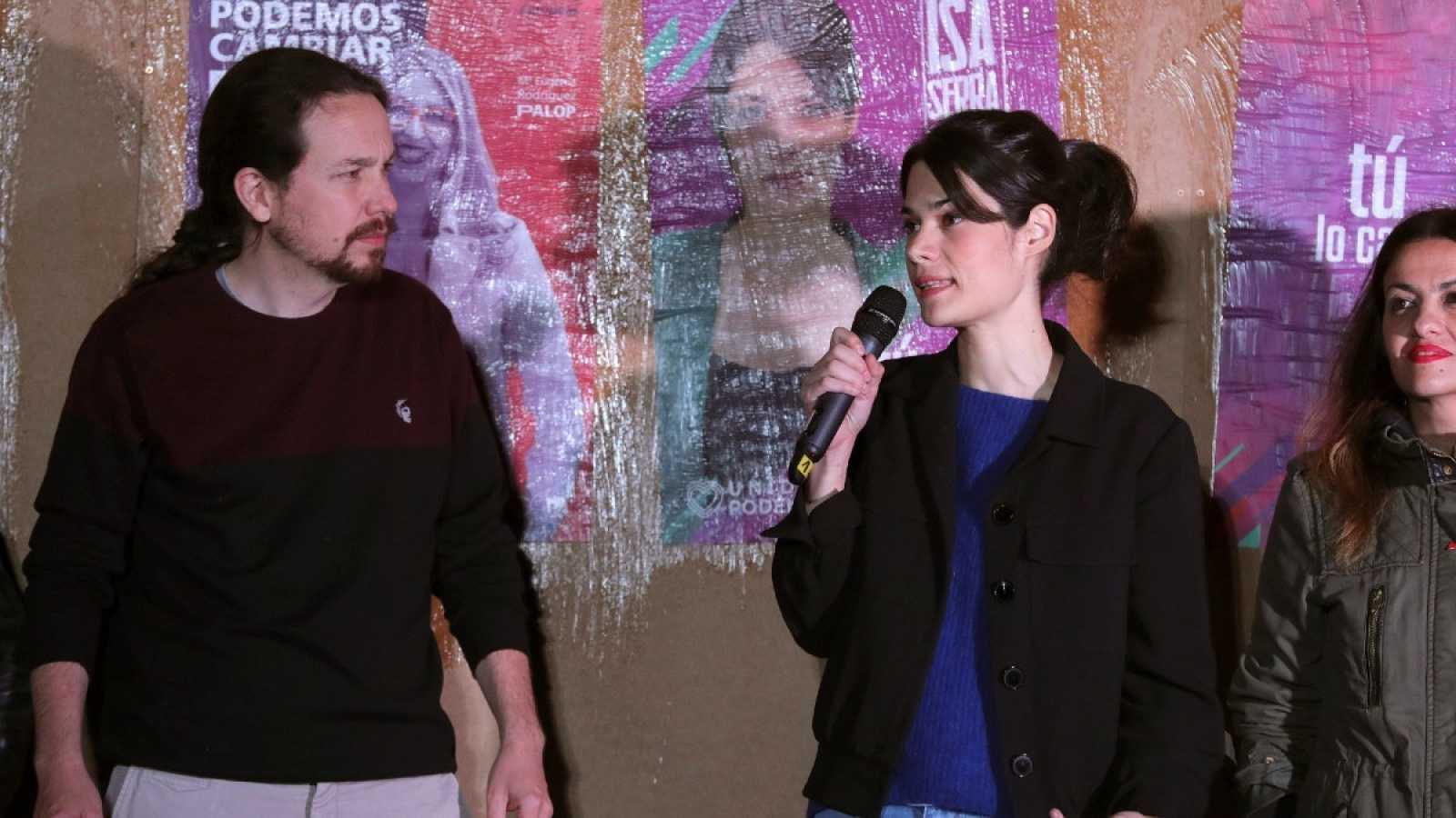 Pablo Iglesias e Isabel Serra, en una imagen de archivo