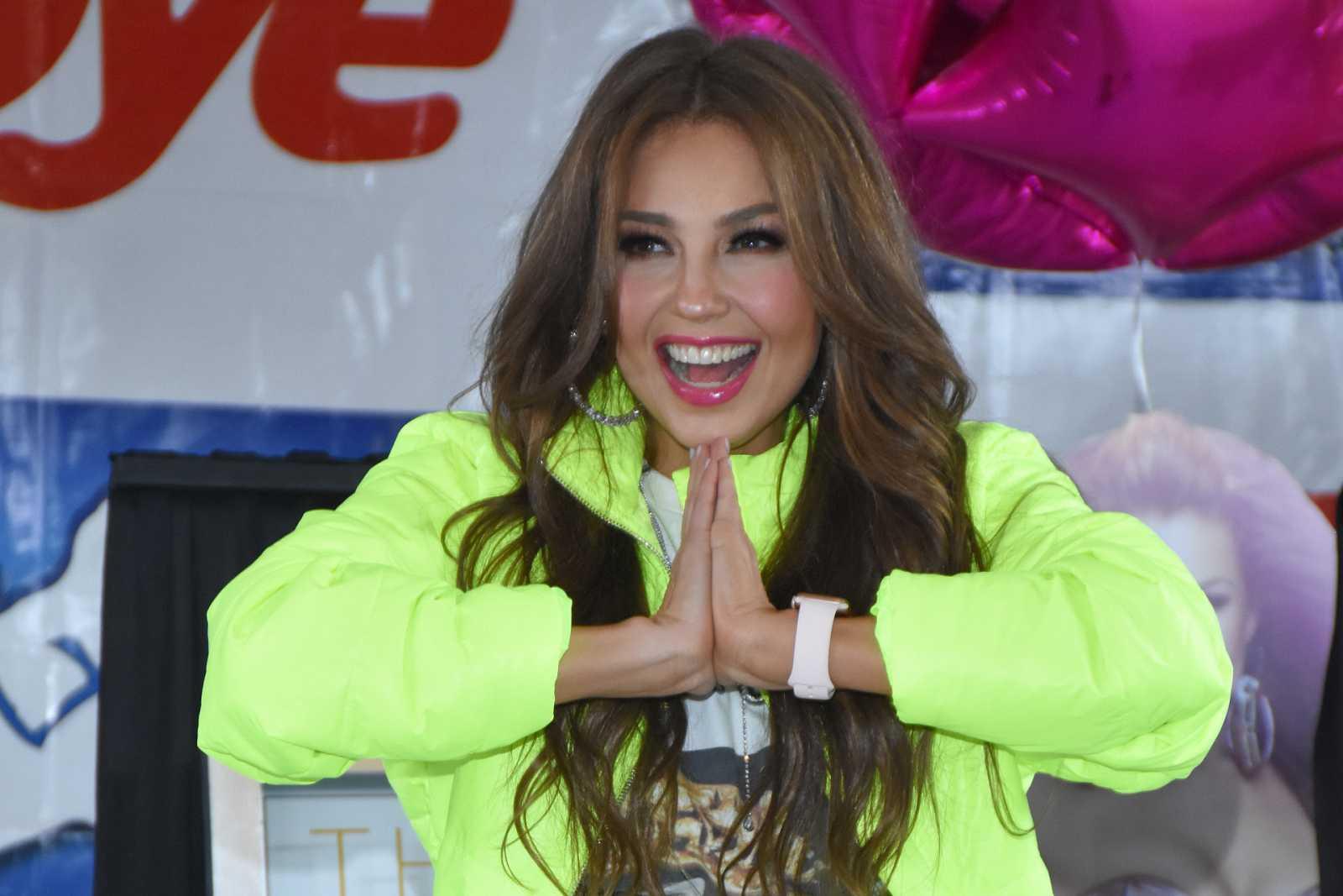 Thalía se atreve a interpretar una escena de 'La casa de papel'