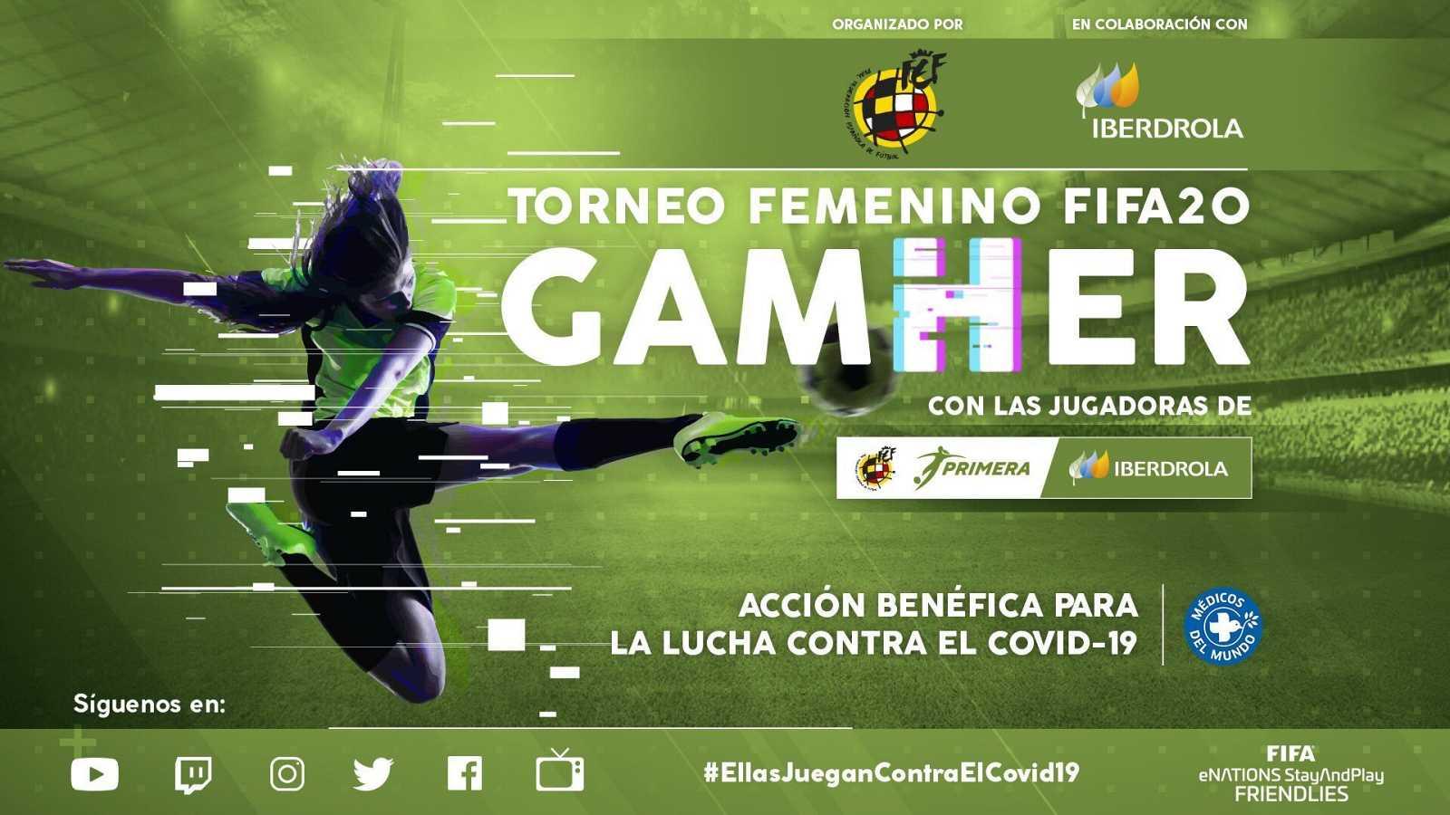 Imagen promocional de 'GamHer', el torneo online para jugadoras de la Liga Iberdrola