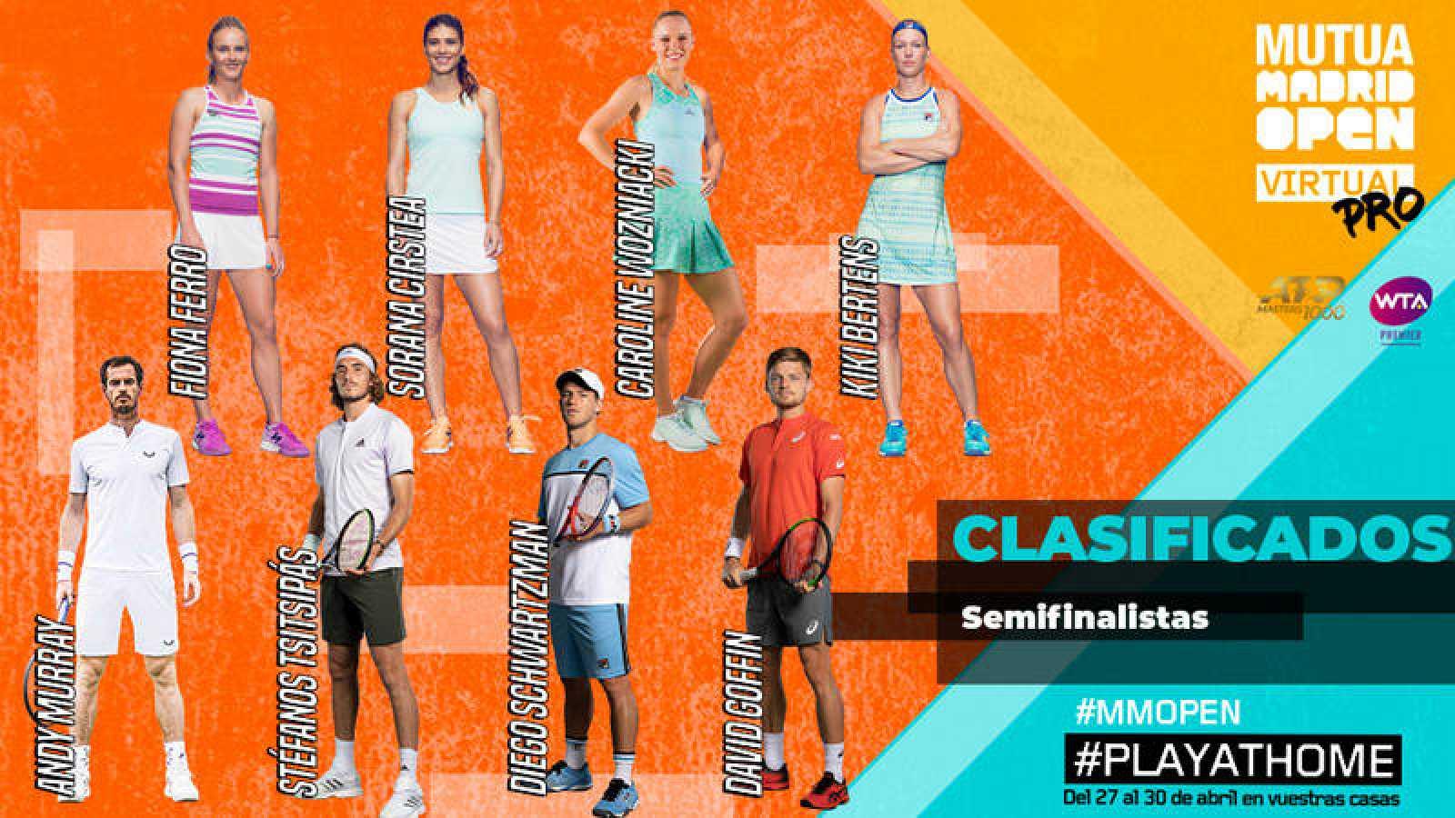Cartel de los cuatro mejores de cada torneo del Madrid Open Virtual