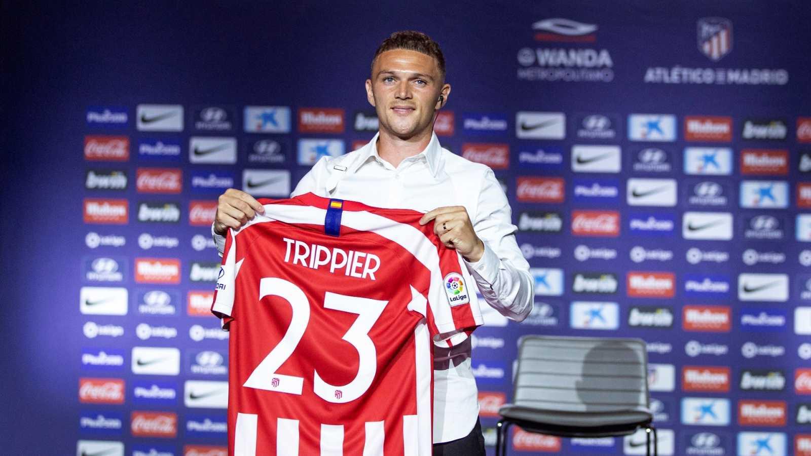 Trippier, durante su presentación como jugador del Atlético de Madrid