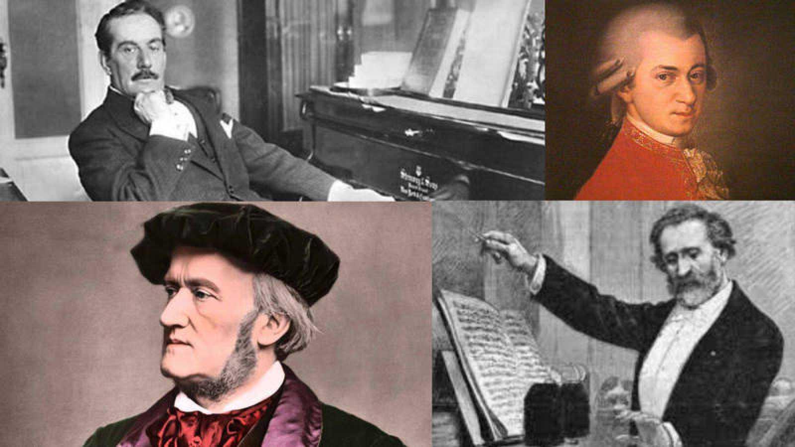Puccini, Wagner, Verdi y Mozart.