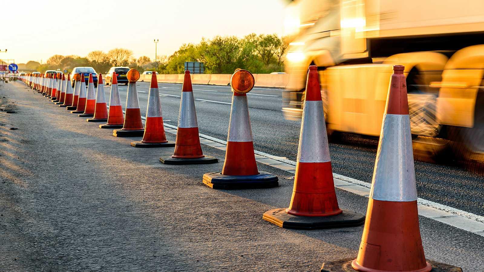 Autopista en obras.
