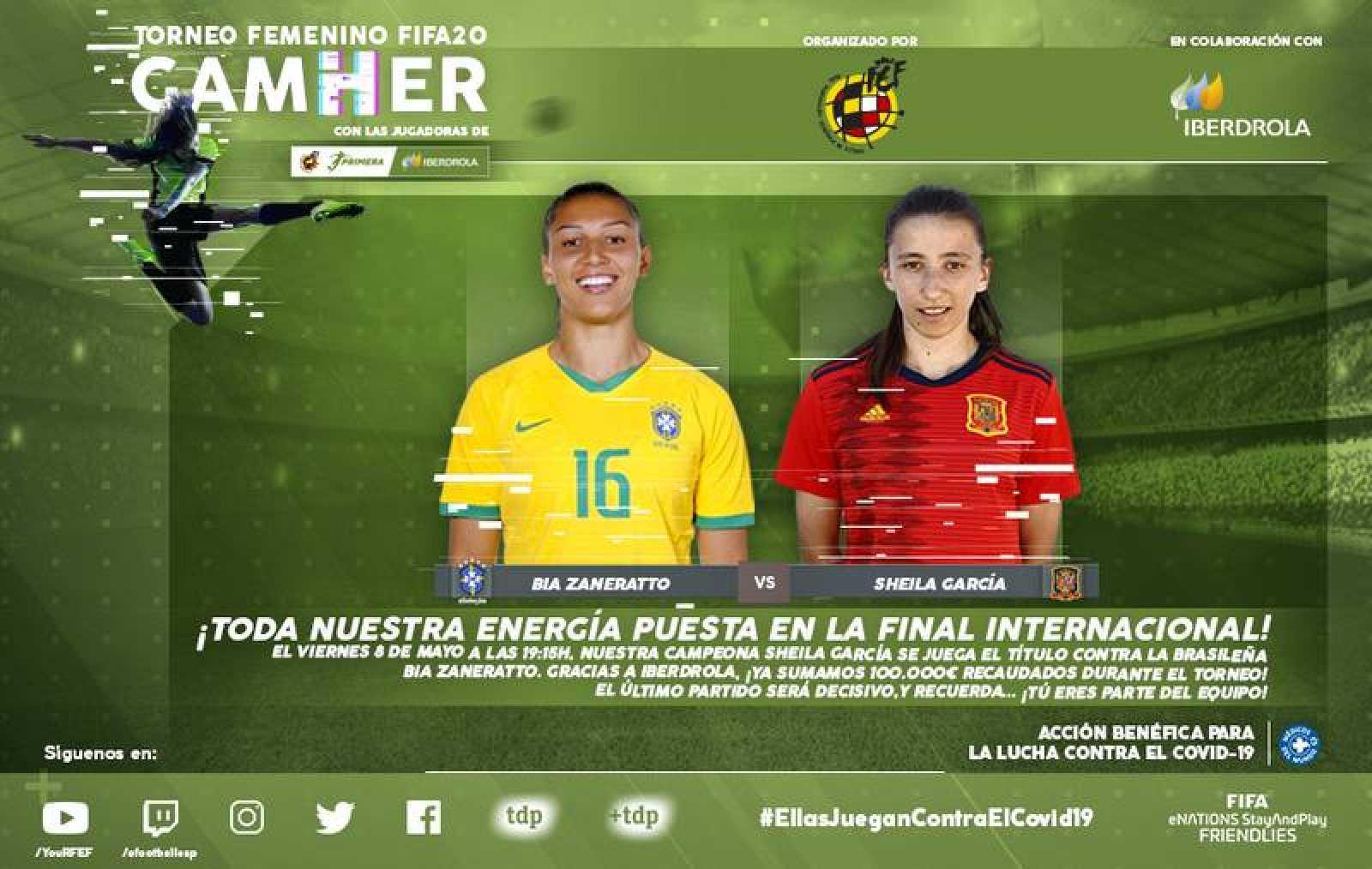 Cartel anunciador de la final del GamHer