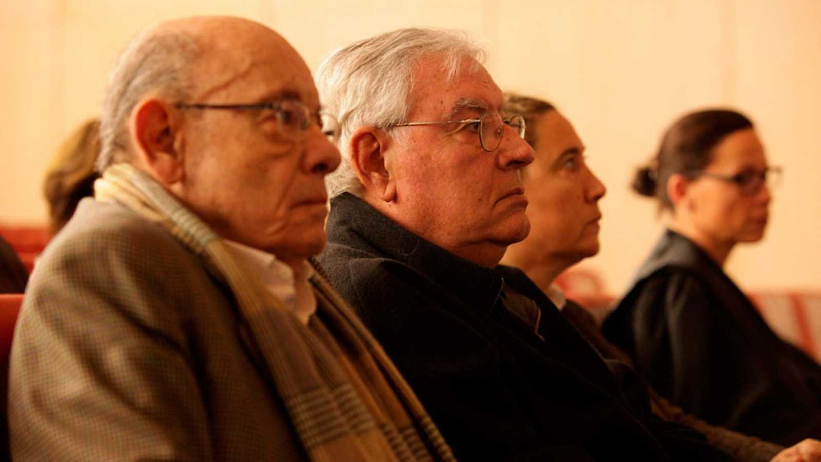 Imagen de archivo en la que aparecen los exresponsables del Palau de la Música Fèlix Millet (i) y Jordi Montull.