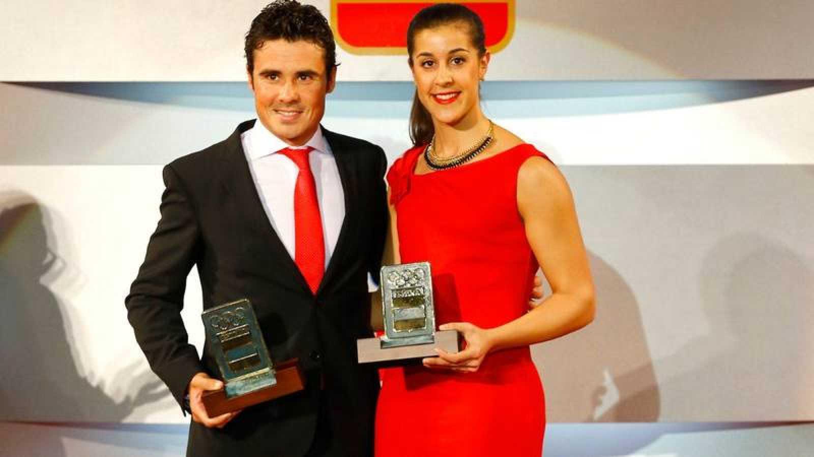 Carolina Marín y Javier Gómez Noya, en una imagen de archivo.