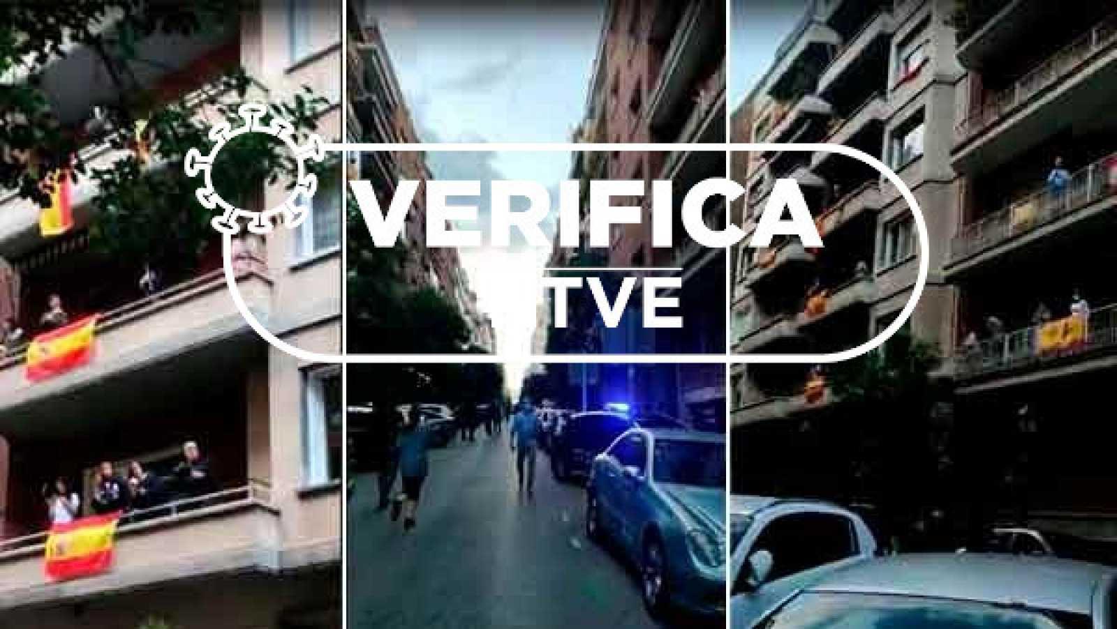 Imágenes de la cacerolada en el Barrio de Salamanca el 10 de mayo