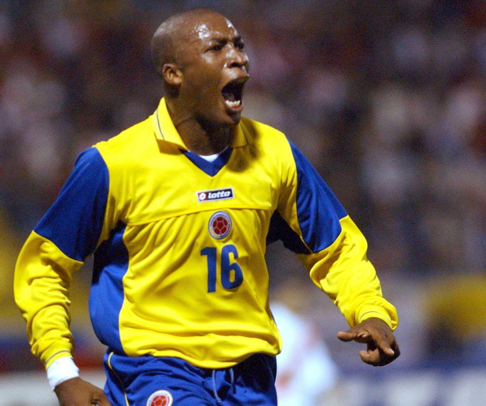 Imagen de archivo del exjugador colombiano Edwin Congo durante un partido de su selección.