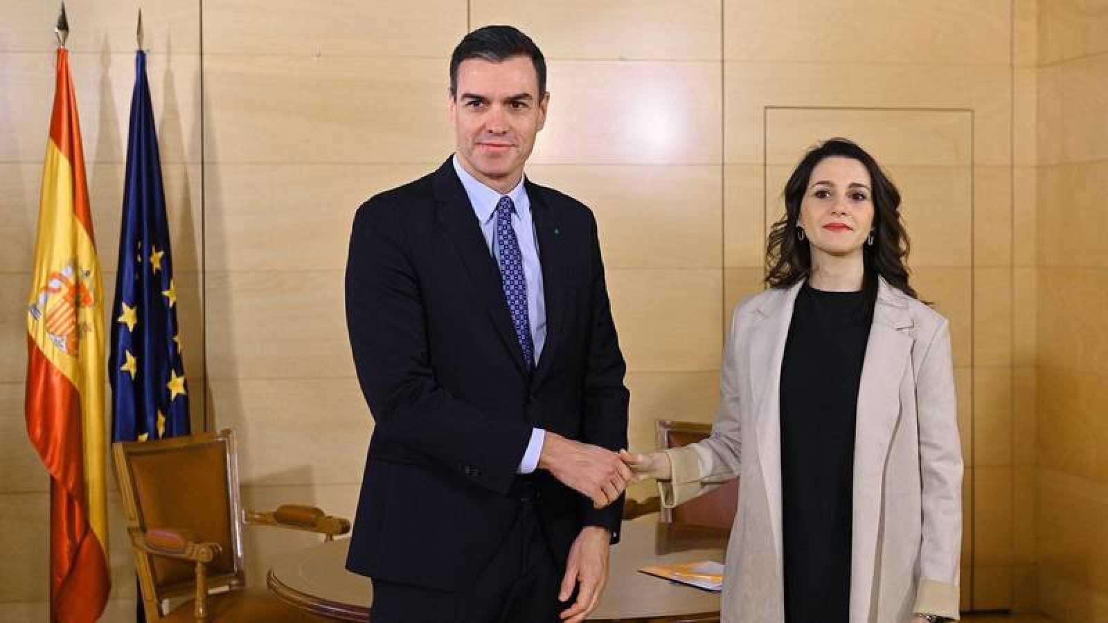 Las conversaciones entre Sánchez y Arrimadas formaron parte del acuerdo para la prórroga del estado de alarma