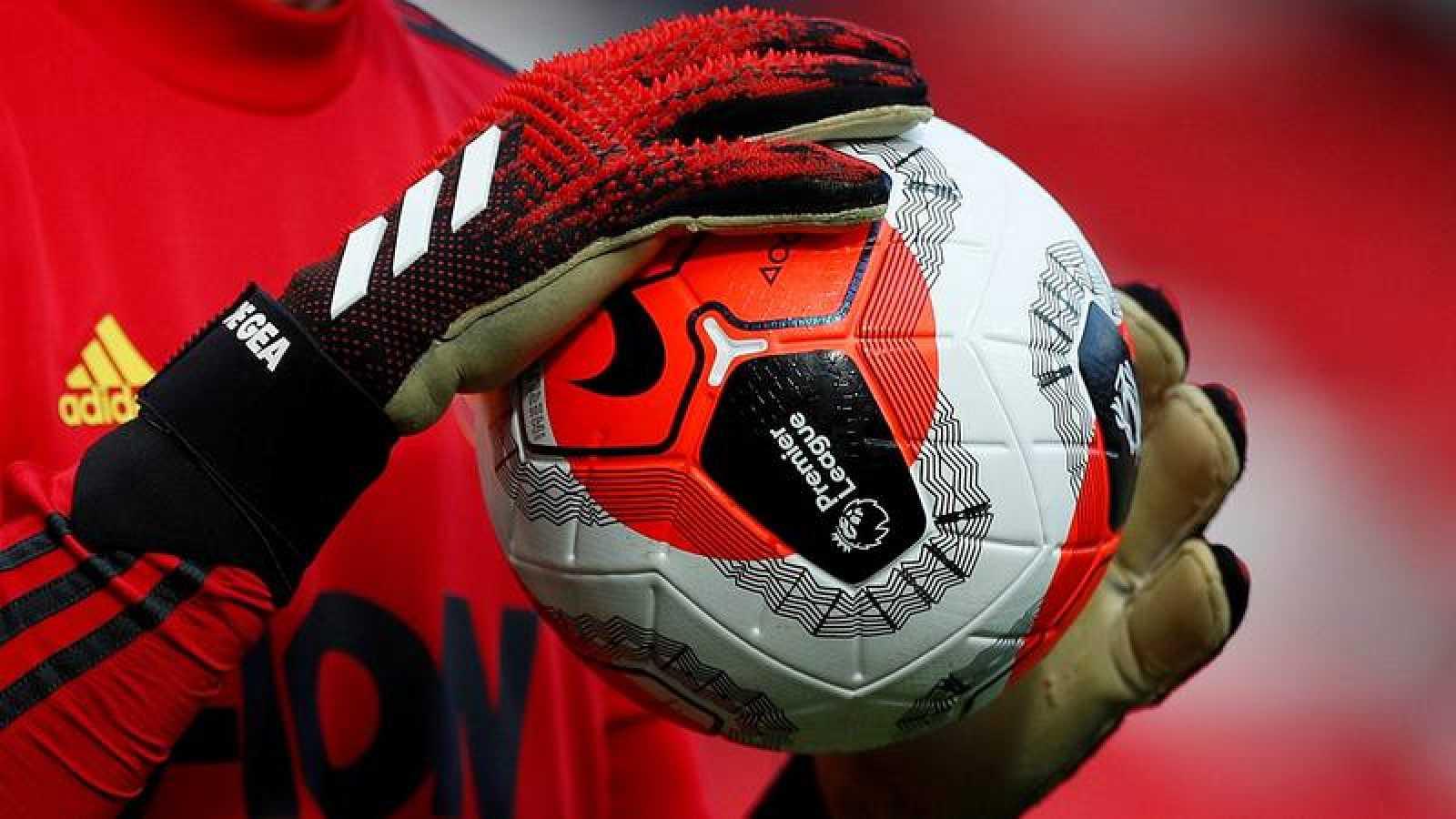 Imagen de un entrenamiento anterior del portero español David de Gea (M. United).