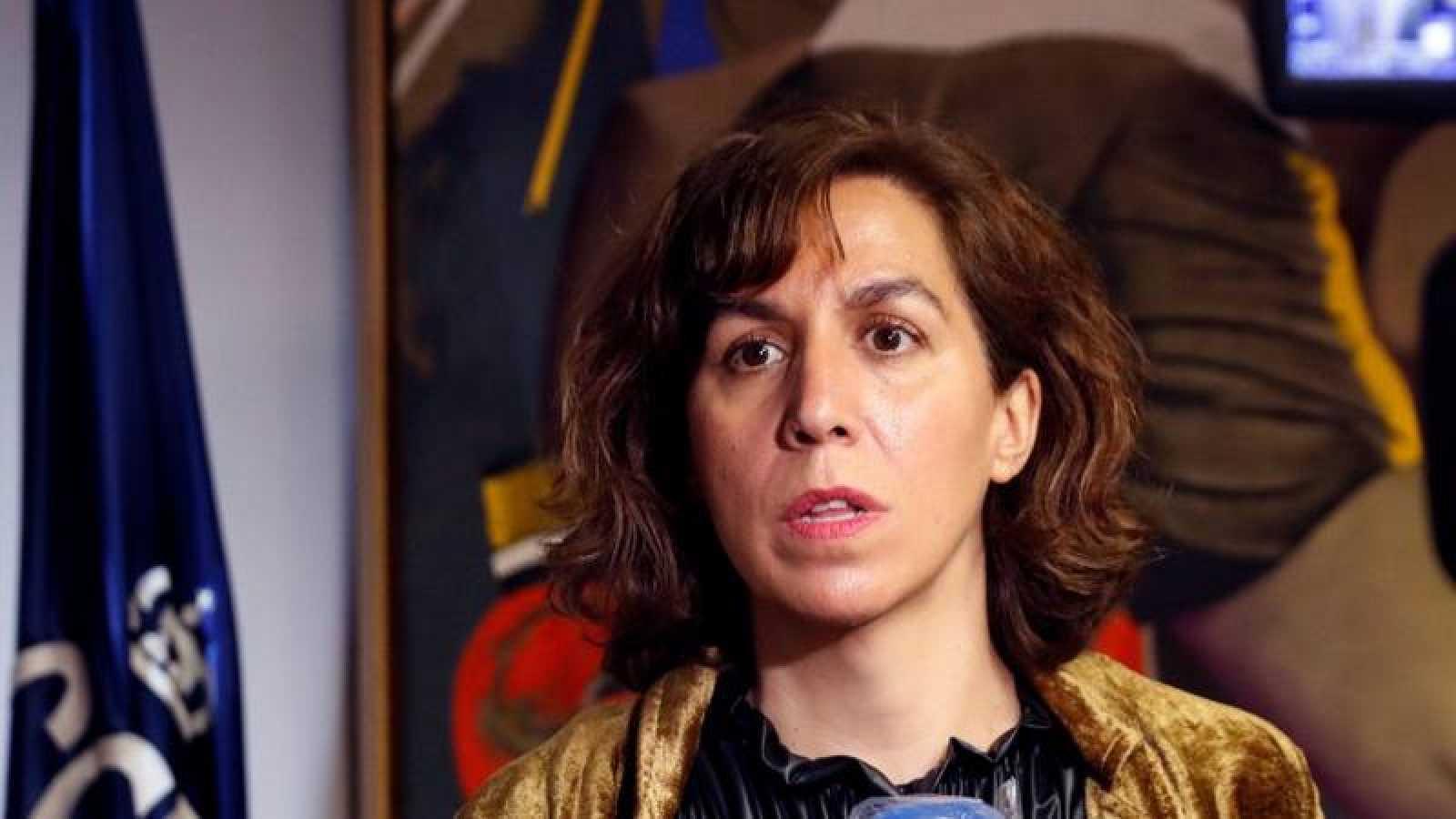 La presidenta del CSD, Irene Lozano tras reunirse con Luis Rubiales y Javier Tebas.