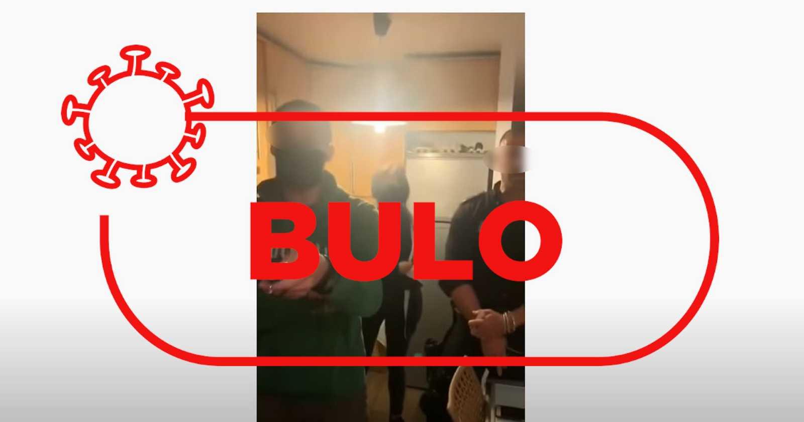Imágenes del bulo sobre que la policía ha entrado en una vivienda por la cerolada