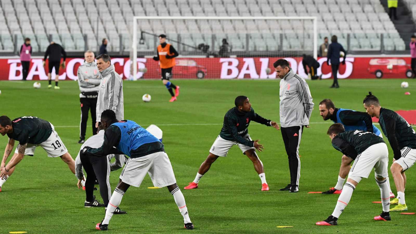Imagen: La Juventus entrena en grupo el pasado 8 de marzo de 2020