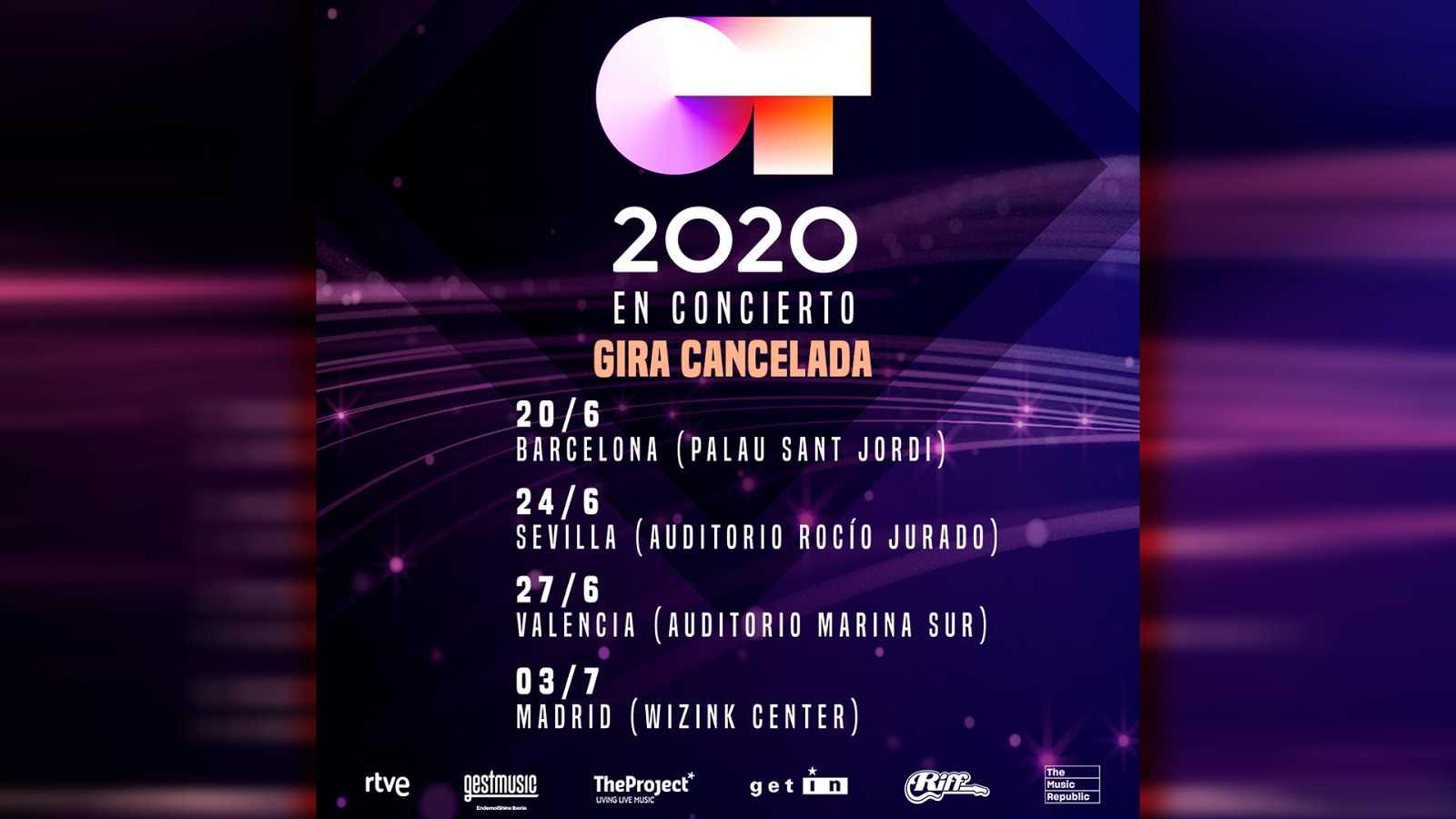 """Cancelada la gira """"Operación Triunfo 2020"""""""