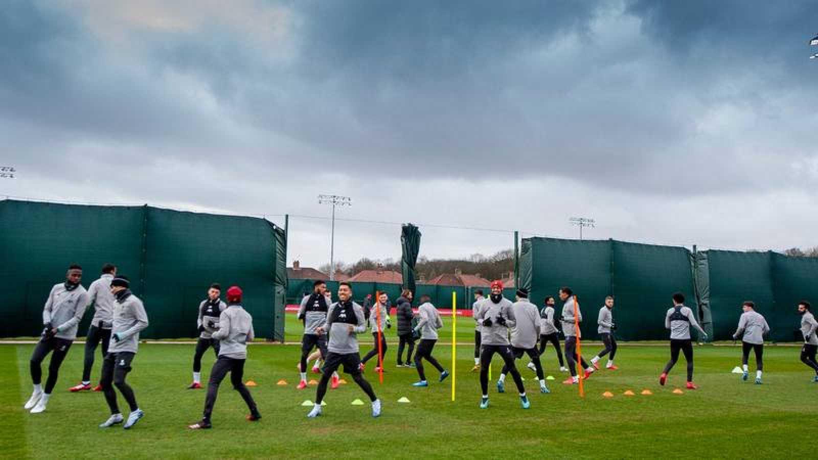 Entrenamiento del Liverpool.