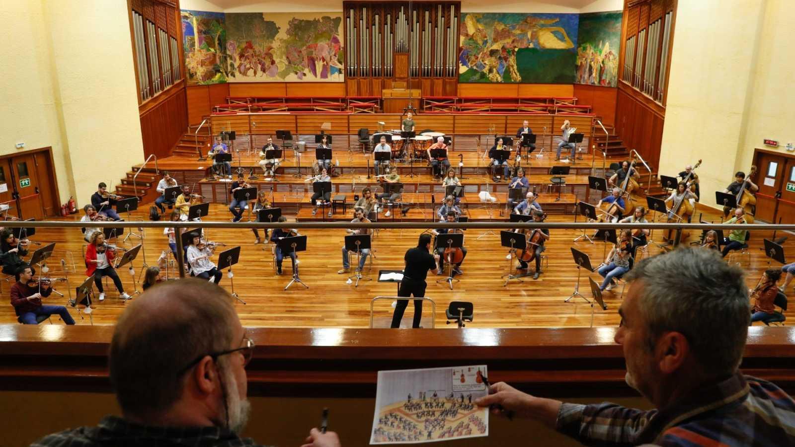 Imagen de la Orquesta de Euskadi durante la desescalada