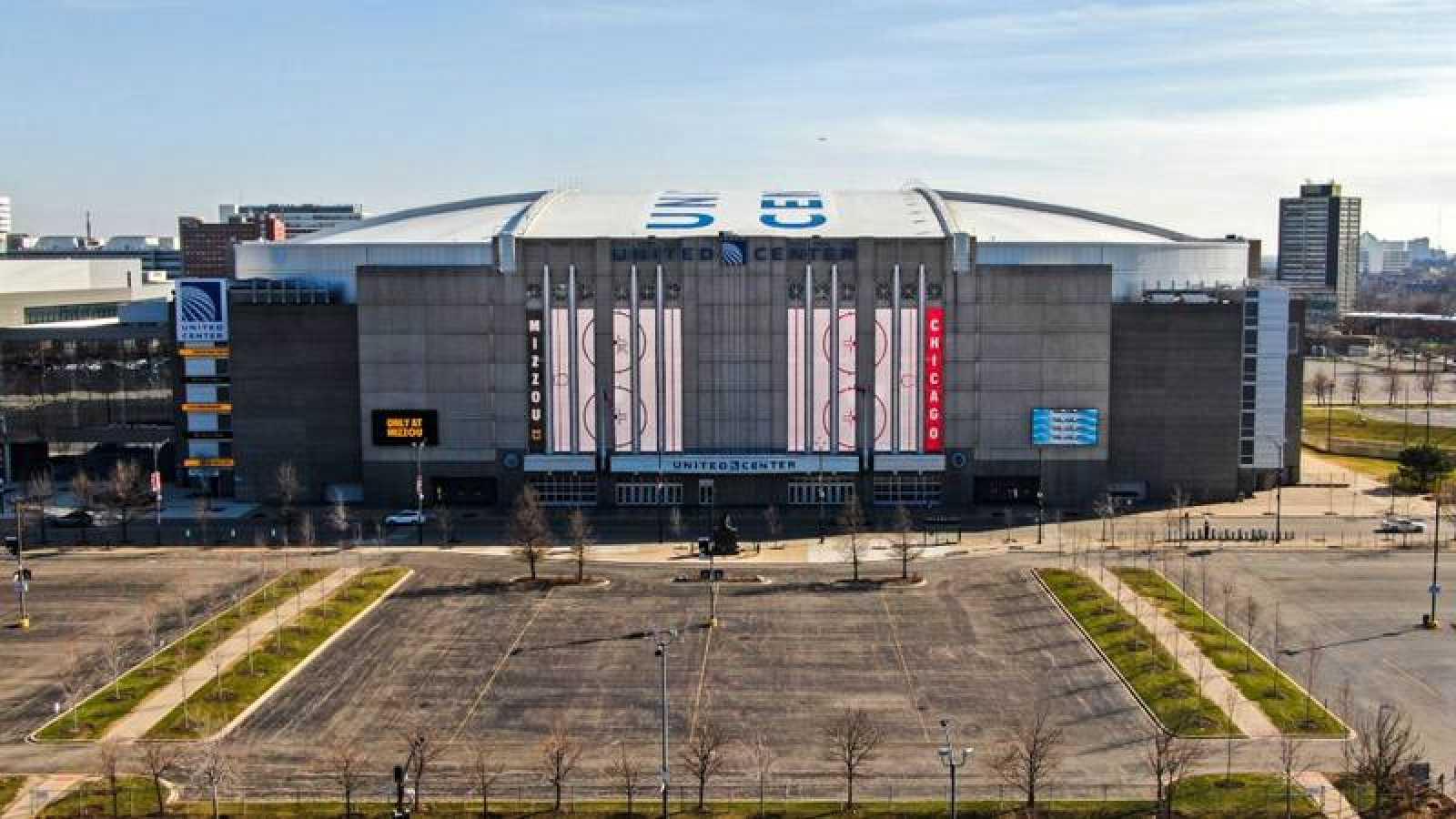 Imagen del United Center, sede de los Chicago Bulls.