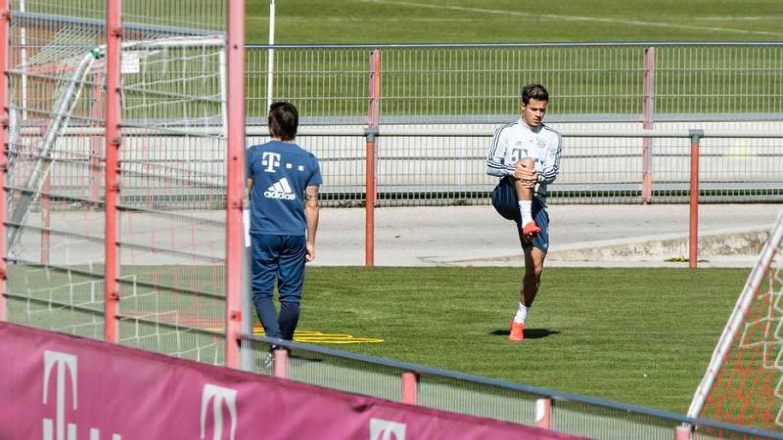 Imagen de Philipe Coutinho durante un entrenamiento con el Bayern.