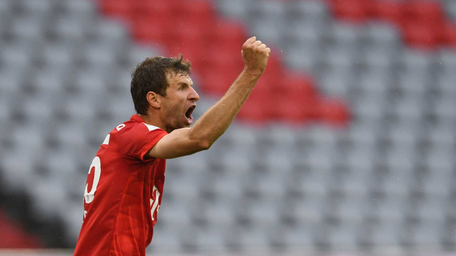 Imagen: Müller celebra el segundo tanto del Bayern Múnich