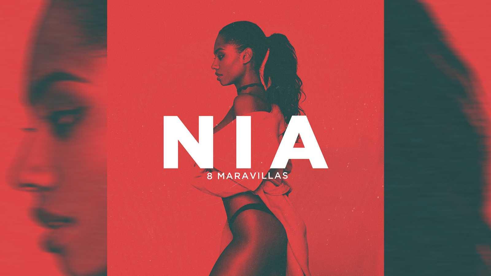 """Portada del primer single de Nia, """"8 maravillas"""""""