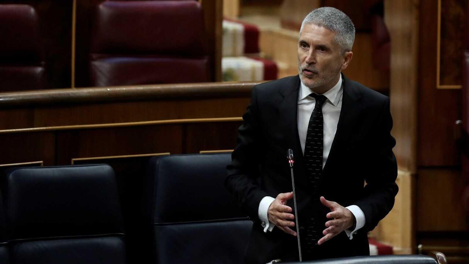El ministro del Interior, Fernando Grande Marlaska, interviene en el Congreso
