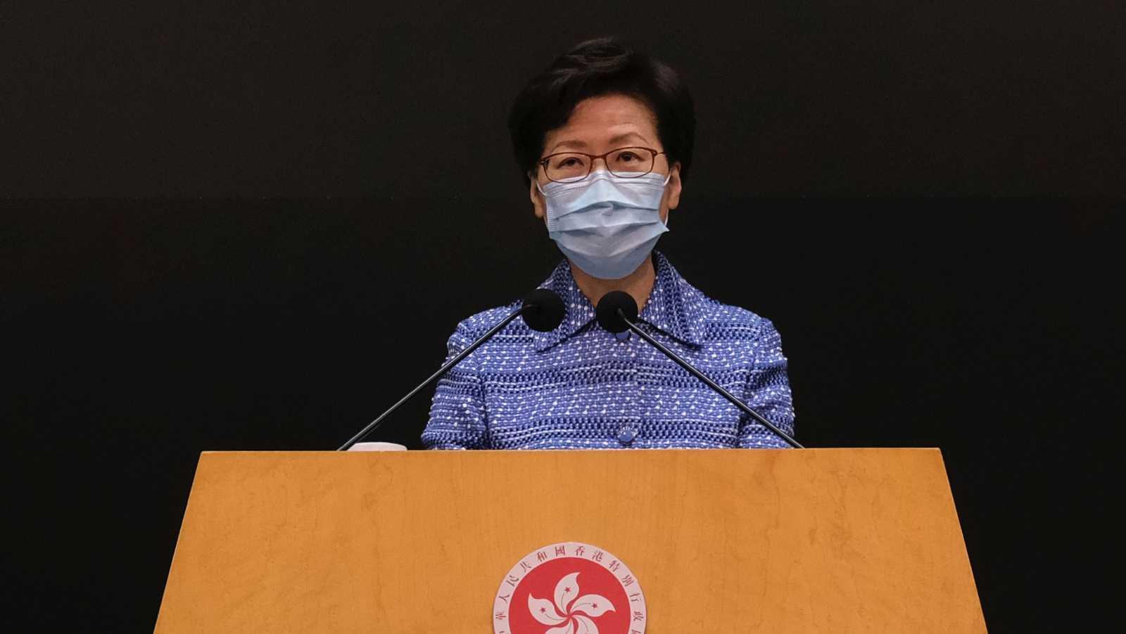 La jefa del Ejecutivo local de Hong Kong, Carrie Lam, reitera su respaldo a la ley de seguridad nacional del Gobierno chino