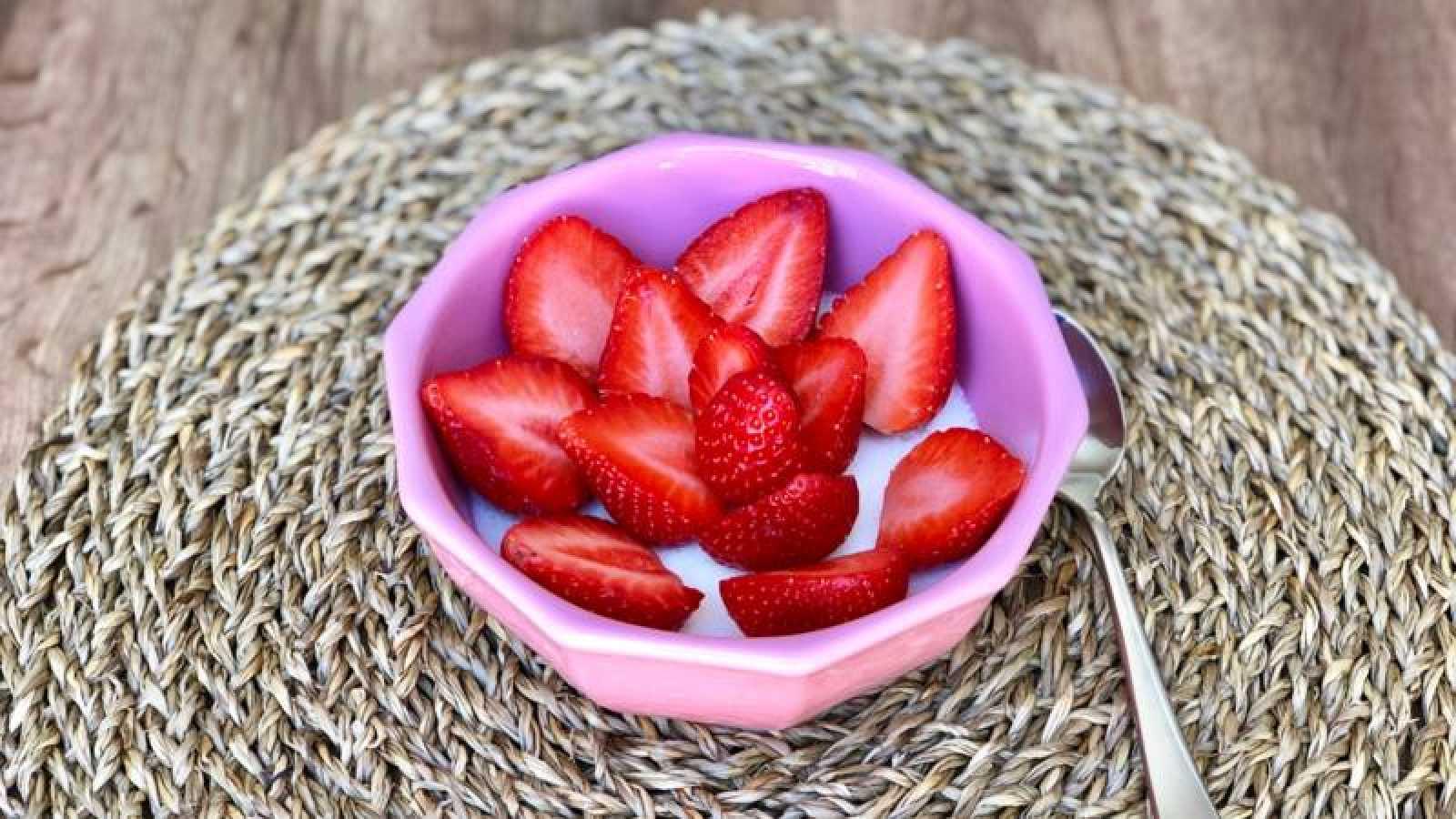 Cuajada con fresas