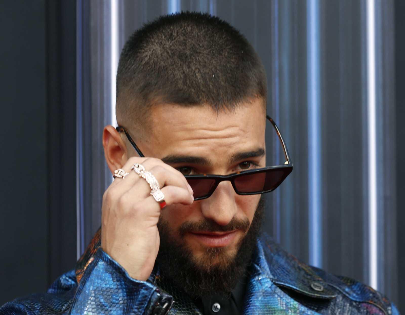 Maluma en la entrega de premios Billboard el año pasado