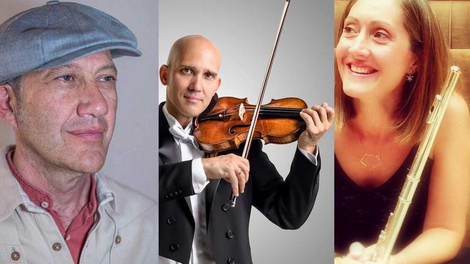 Jorge Lujua, Miguel Borrego y Mónica Raga