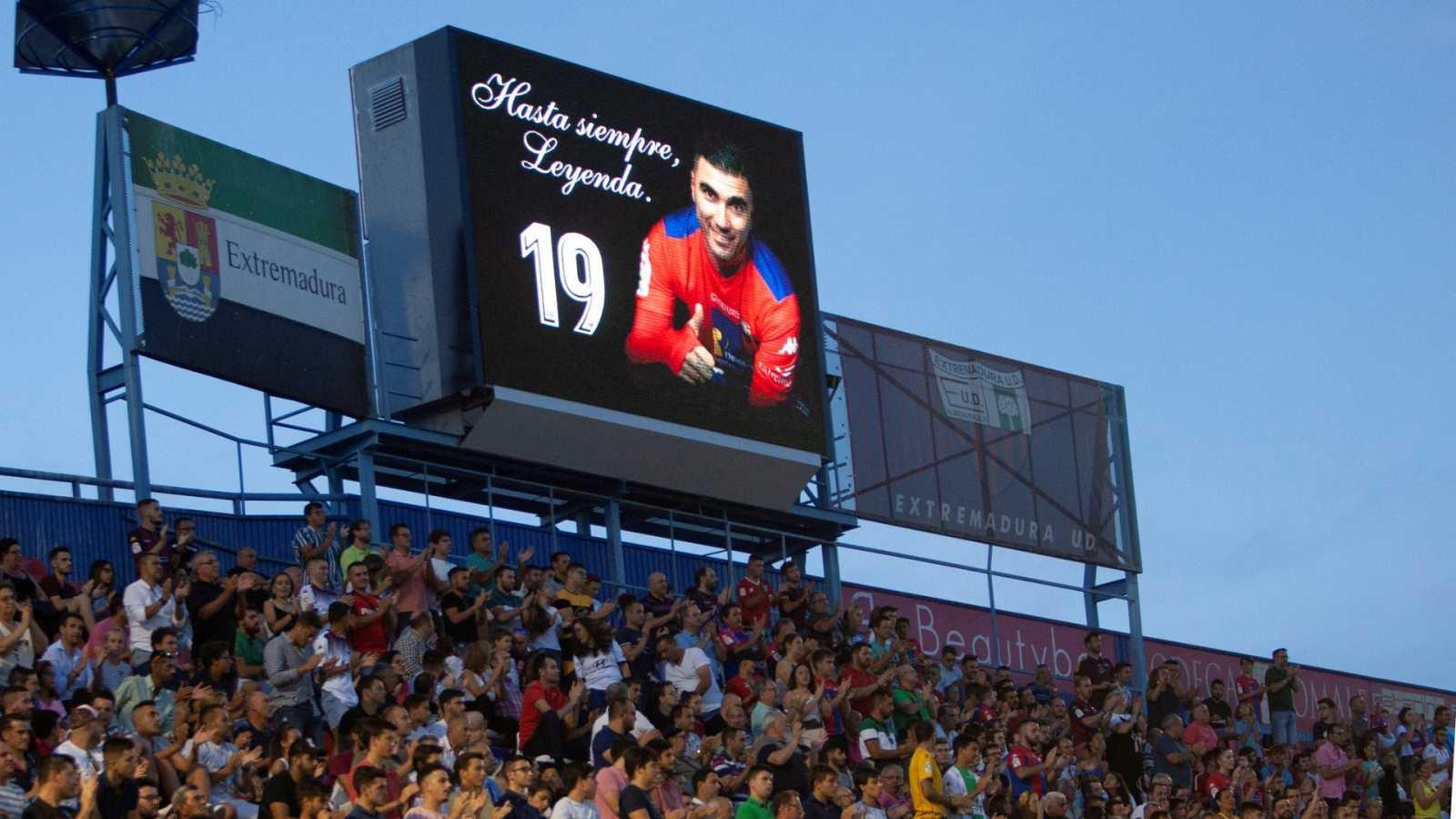 Imagen del Partido de homenaje a José Antonio Reyes en Extremadura