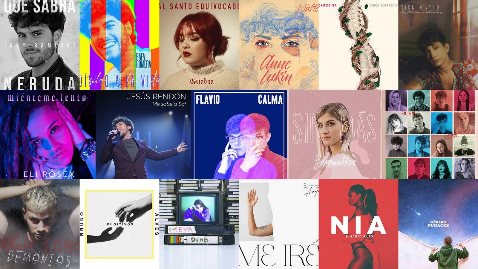 Las portadas de todos los singles de los chicos de OT 2020