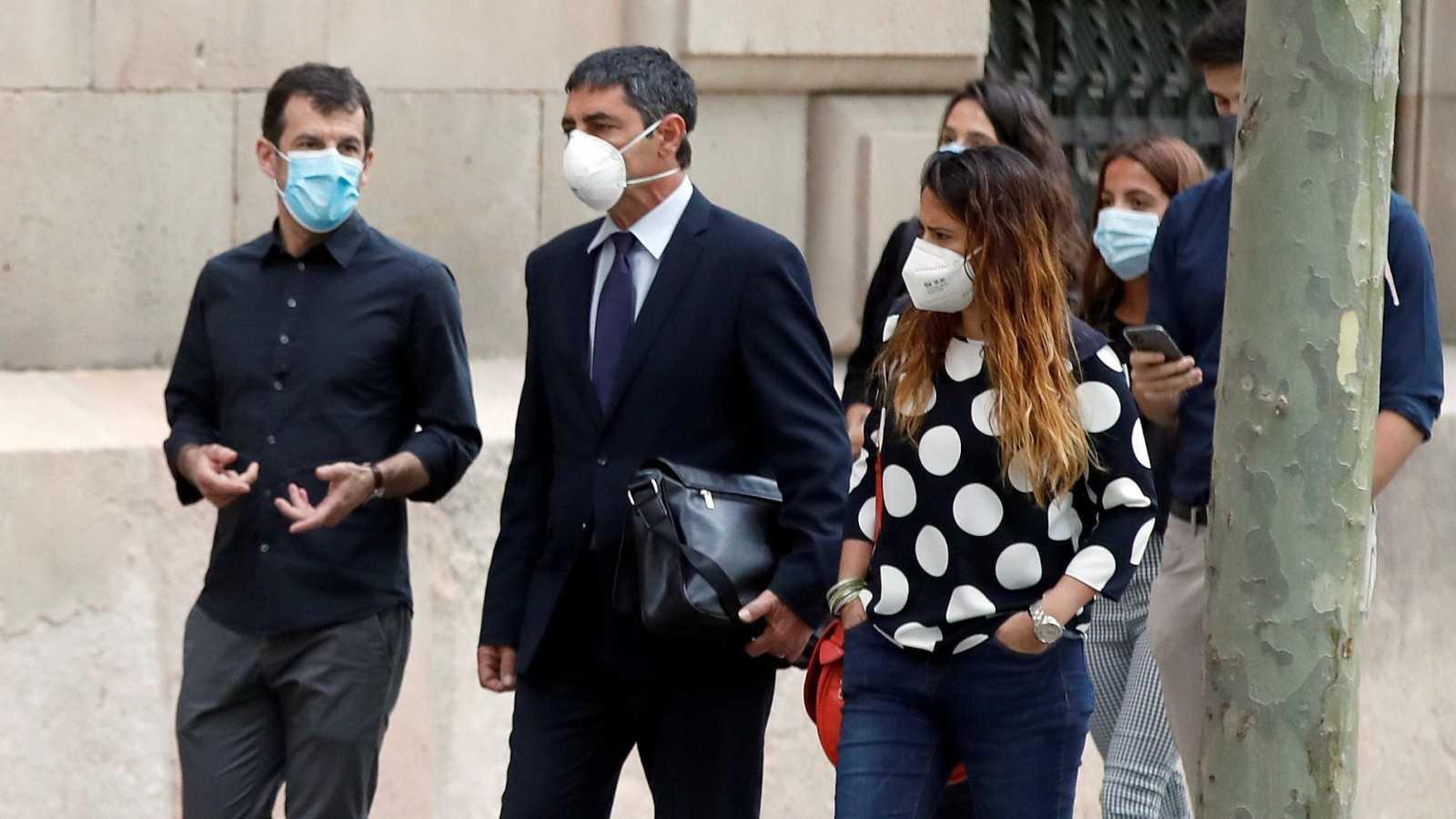 El mayor de los Mossos Josep Lluís Trapero a su llegada a la Audiencia de Barcelona