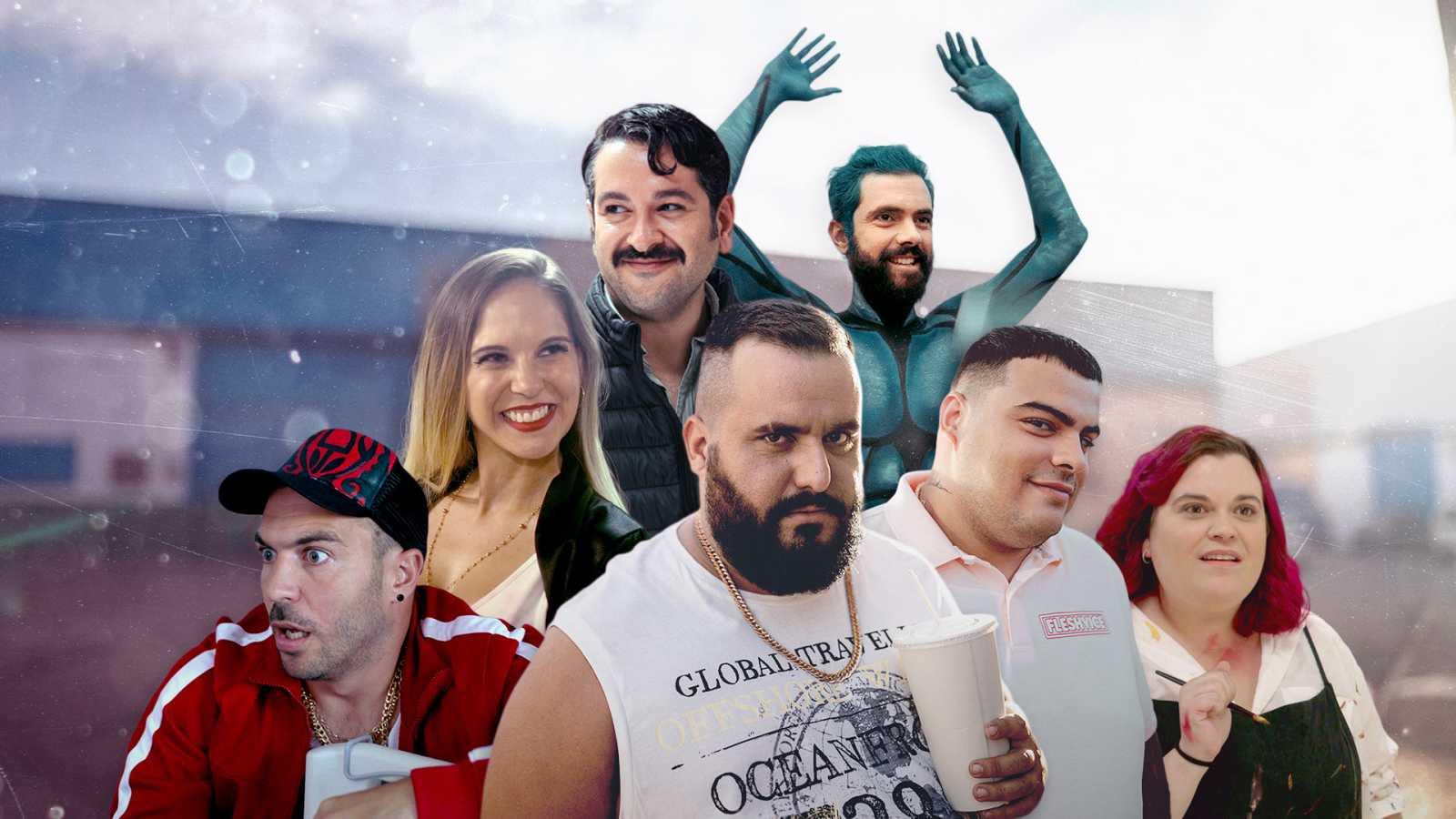 Algunos de los personajes de 'Grasa', la dramedia de David Sainz protagonizada por Kike Pérez