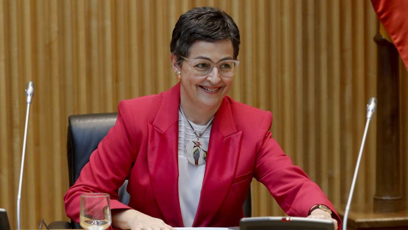 La ministra de Asuntos Exteriores, Unión Europea y Cooperación, Arancha González Laya, comparece en la Comisión para la Reconstrucción Social y Económica del Congreso de los Diputados, este martes