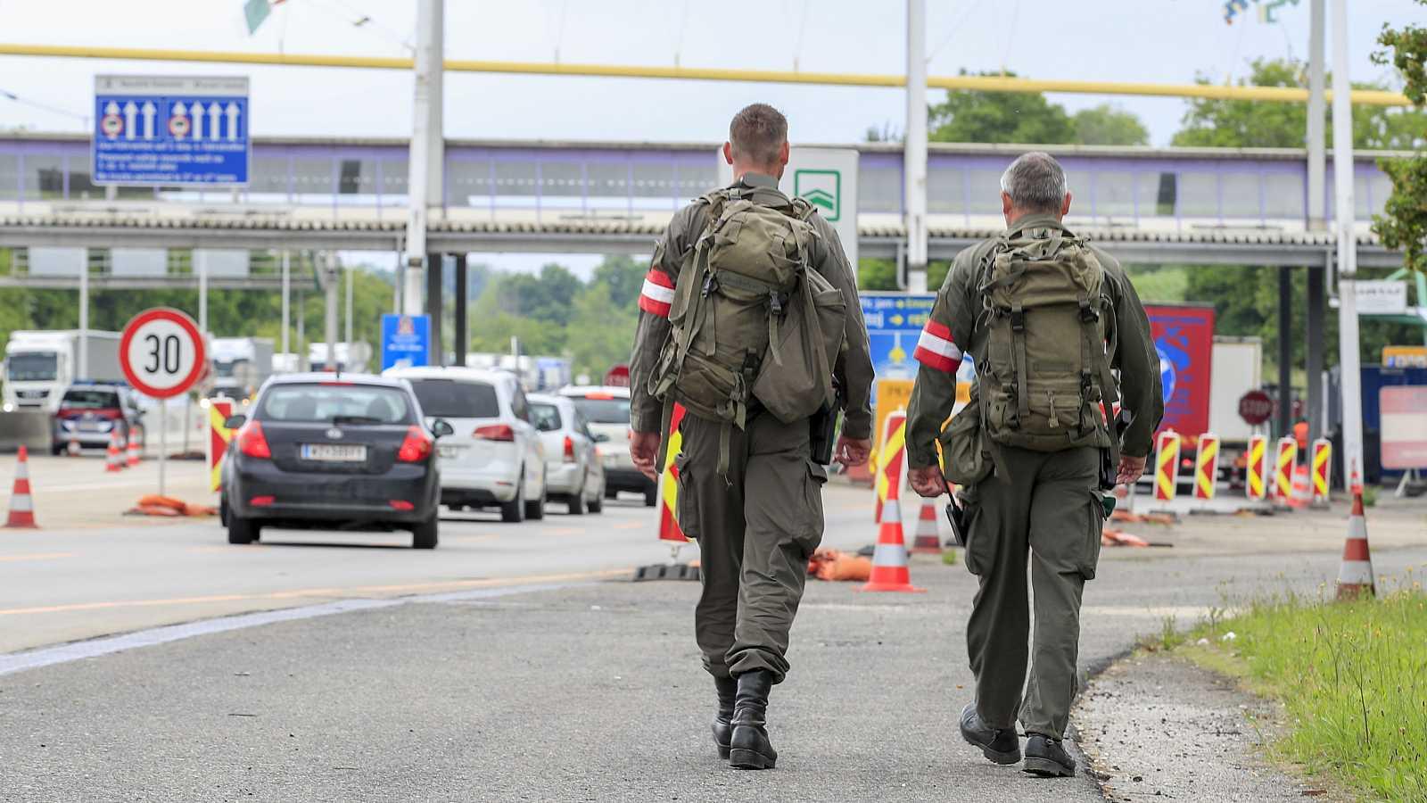 Frontera entre Austria y Eslovenia, en la que se permite el tránsito de viajeros de ambos países desde el 5 de junio.