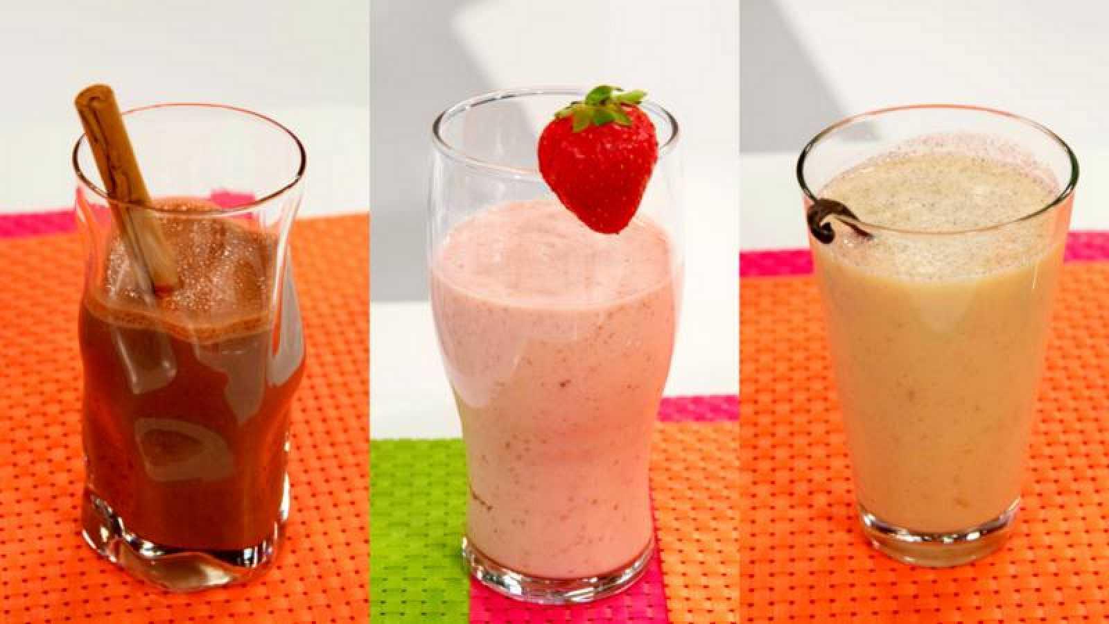 Batidos de fruta con leche