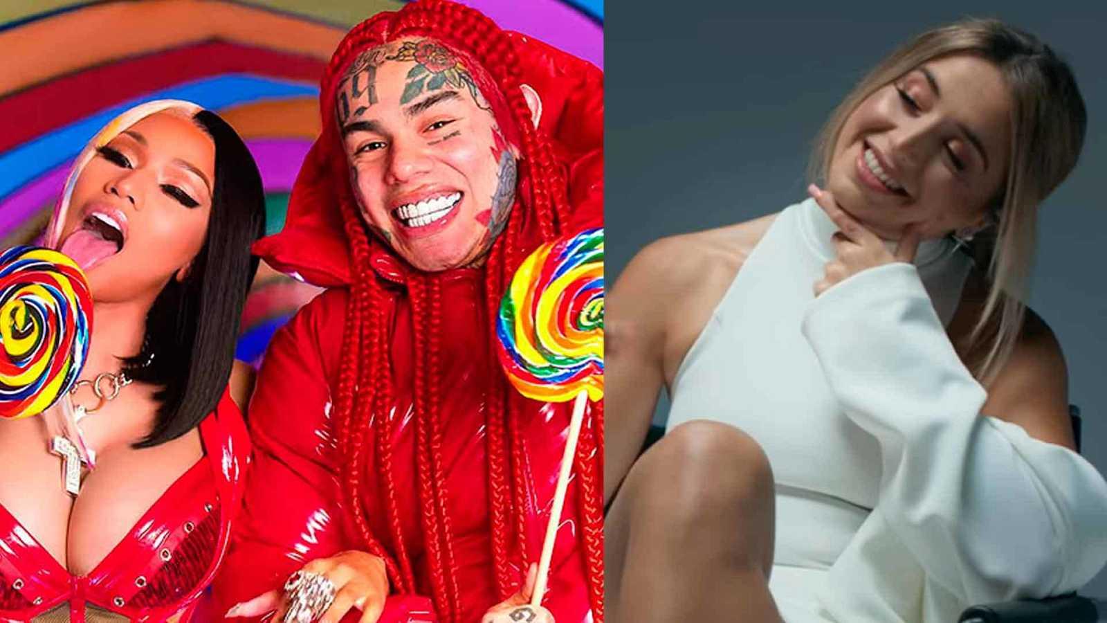 "6ix9ine saca tema con Nicky Minaj y Lola Índigo arrasa con ""Mala cara""."