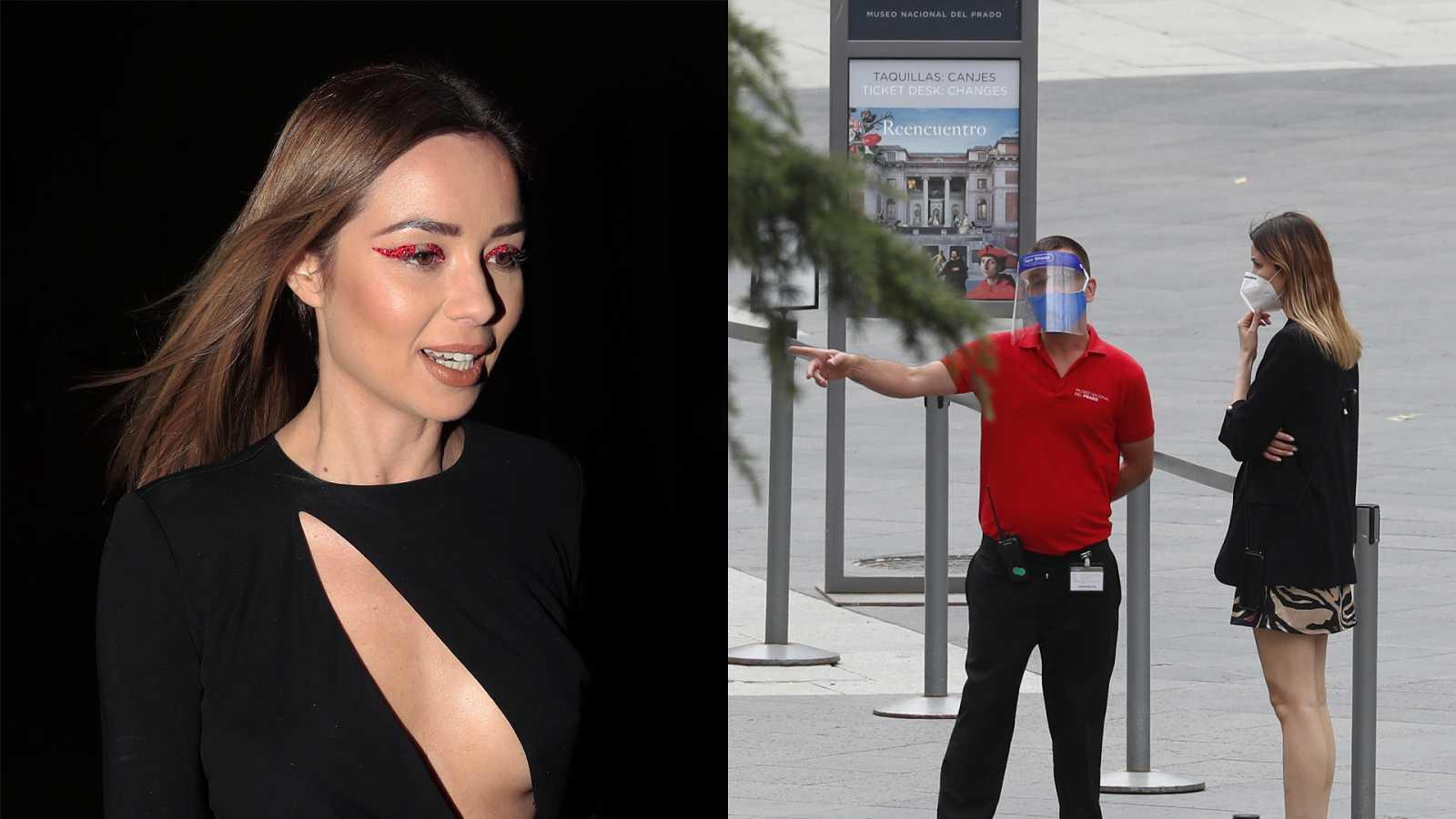 La actriz Dafne Fernández (35) visita el Museo del Prado en su reapertura