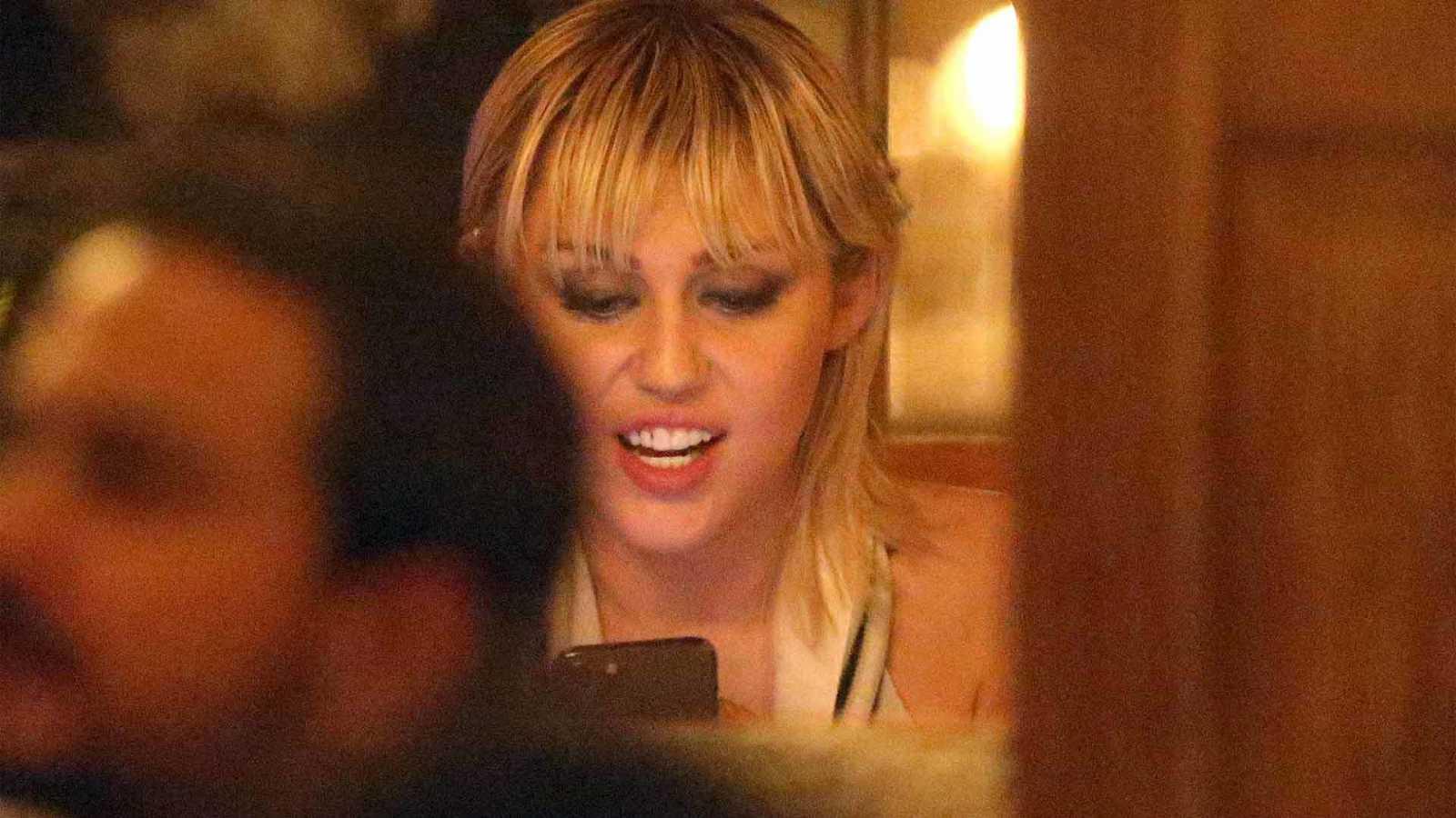 Miley Cyrus, en un restaurante de Nueva York el pasado mes de febrero.