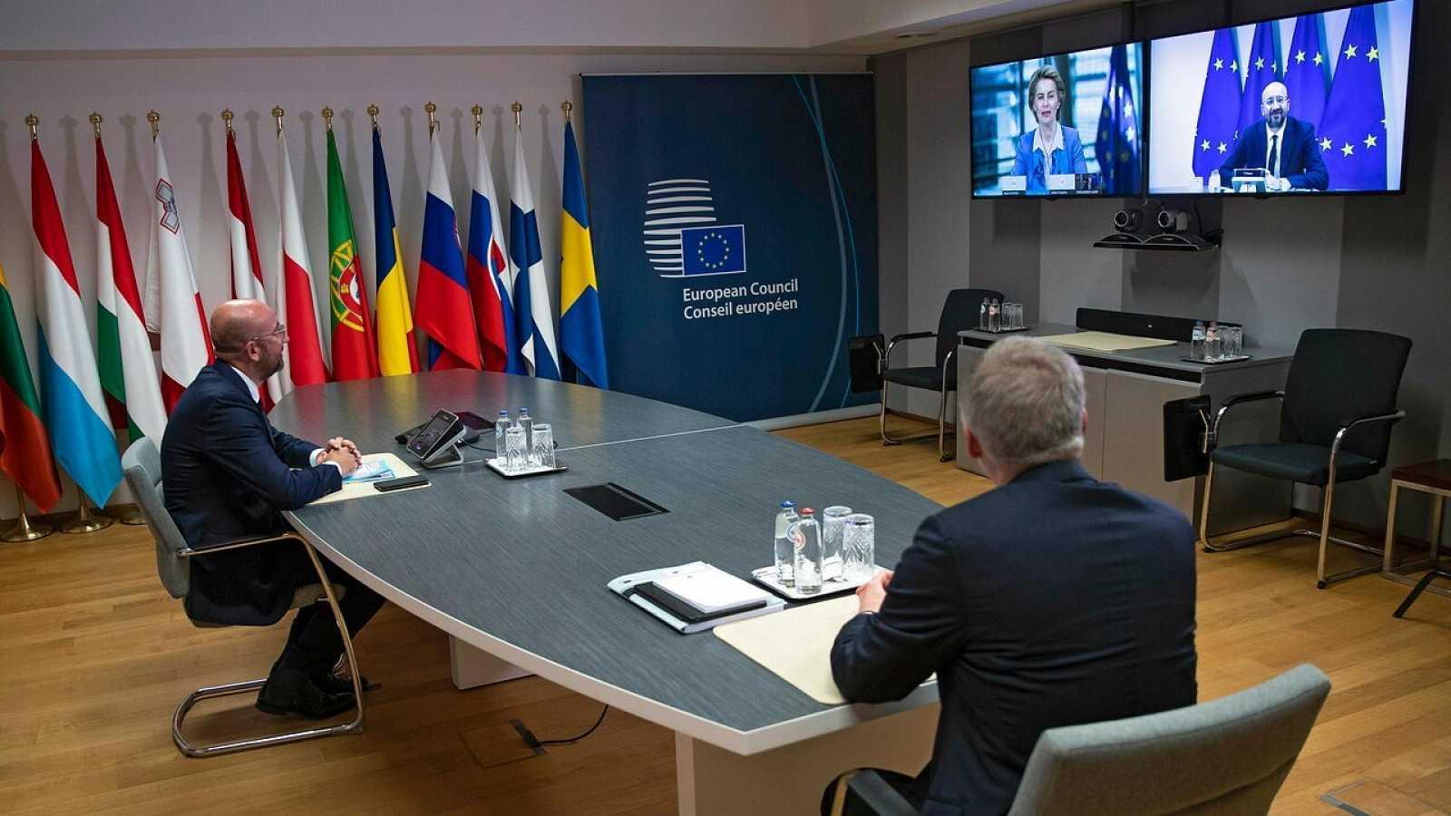 El Presidente del Consejo Europeo habla con Ursula von der Leyen antes de las conversaciones entre la UE y Reino Unido