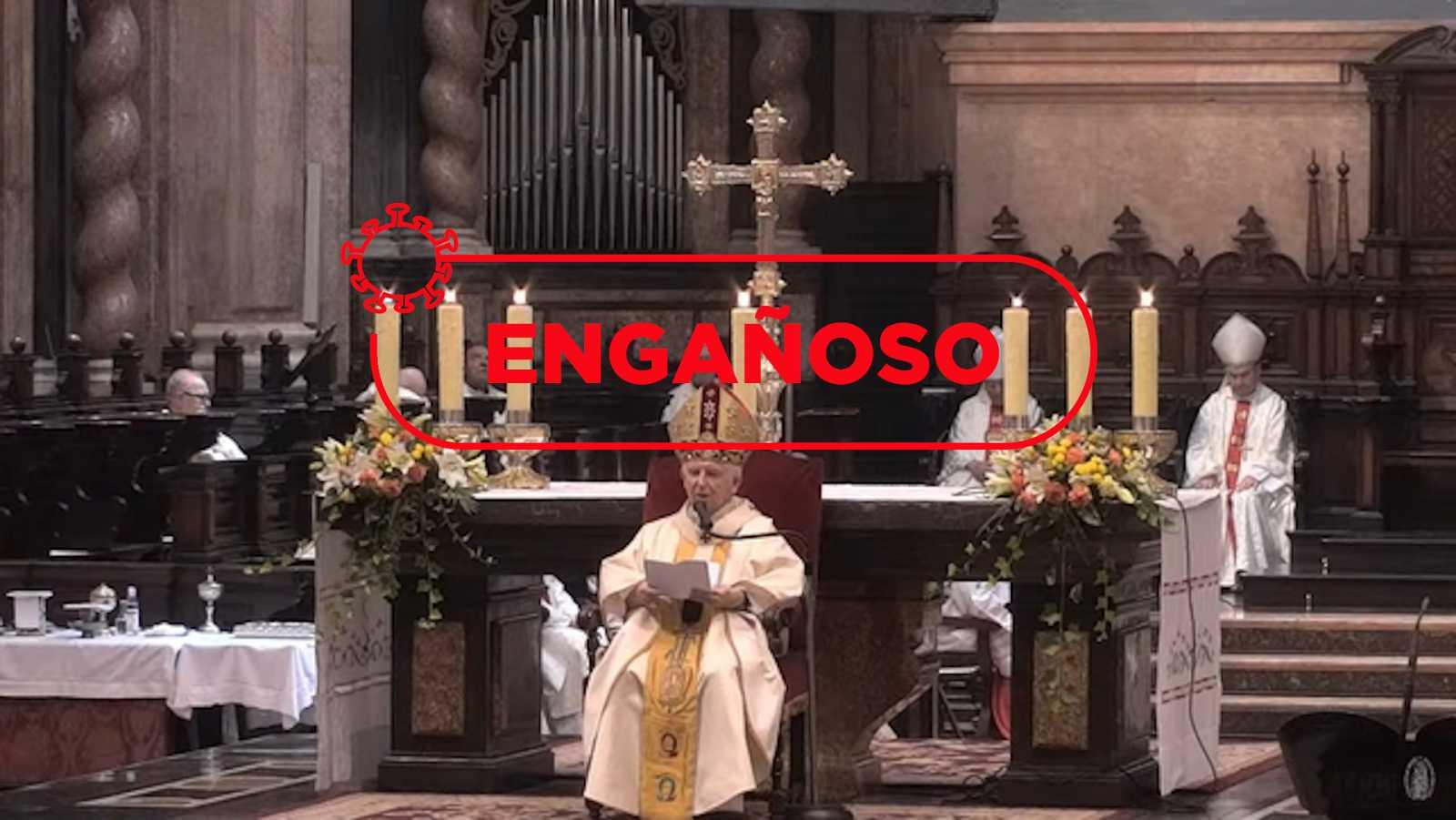 """El cardenal Cañizares divulga en misa el bulo de que la vacuna del coronavirus se fabrica con """"células de fetos abortados"""""""