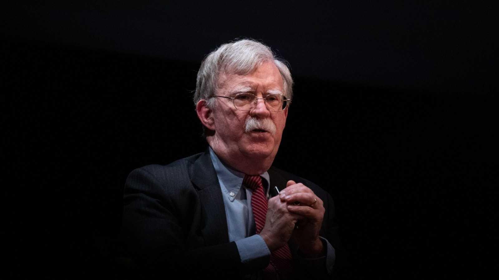 El exasesor de Seguridad Nacional de Trump, John Bolton, en un debate en Carolina del Norte a principios de año