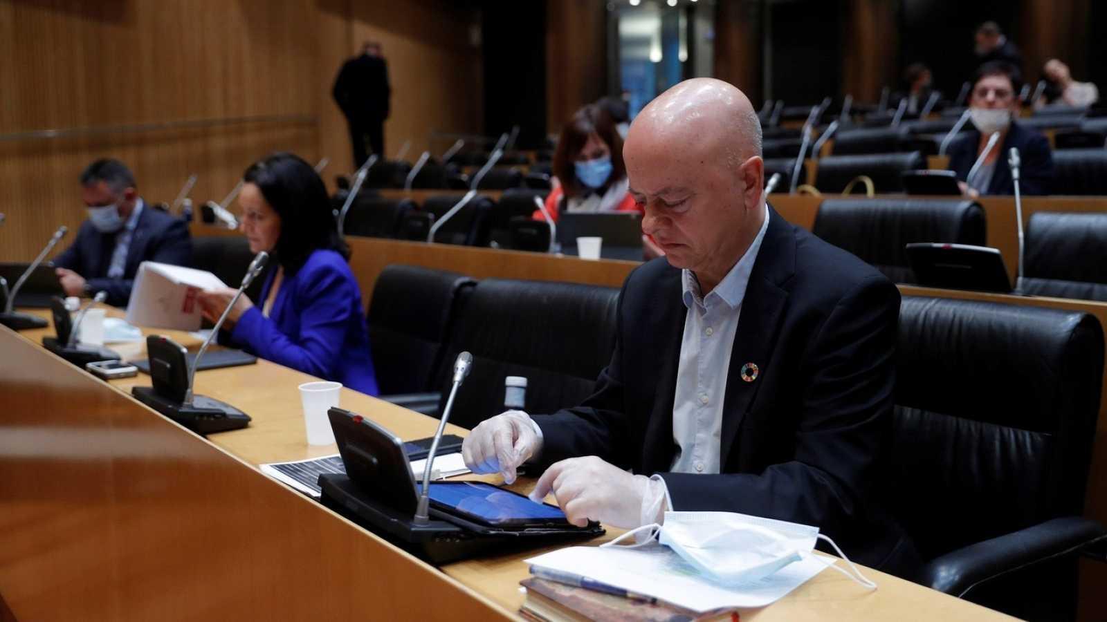 Odón Elorza, diputado socialista por Gipuzkoa, el pasado mes de mayo en el Congreso