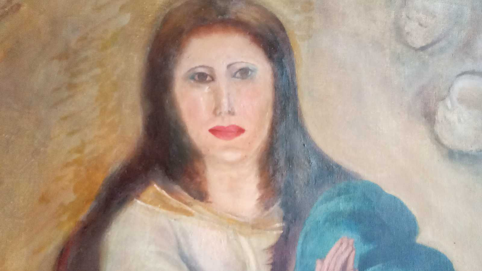 Imagen de la copia de una de las famosas Inmaculadas de Murillo.