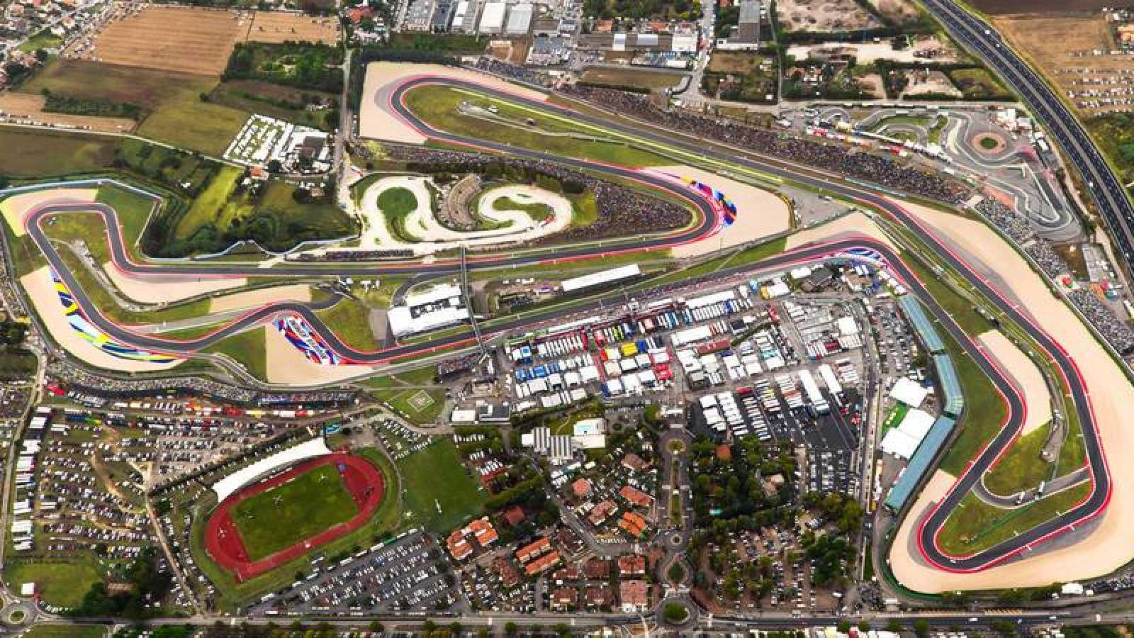 Imagen aérea del circuito de Misano.