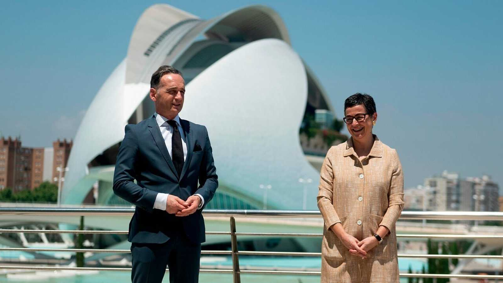 Los ministros de Asuntos Exteriores Heiko Maas y Arancha González Laya