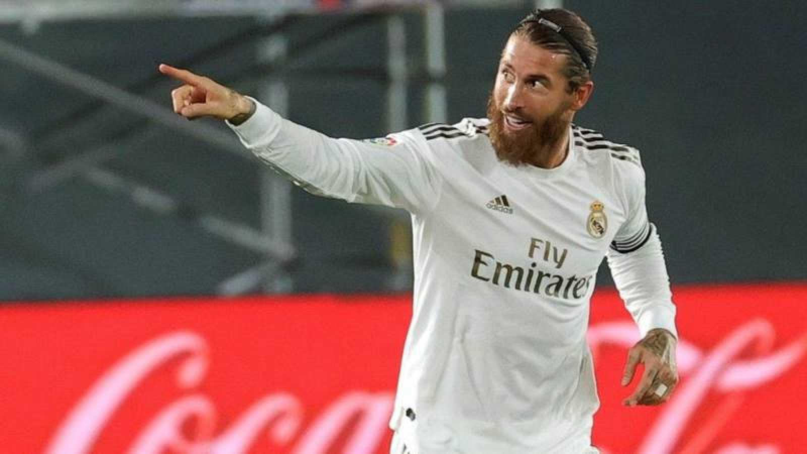 Sergio Ramos, en un partido de Liga