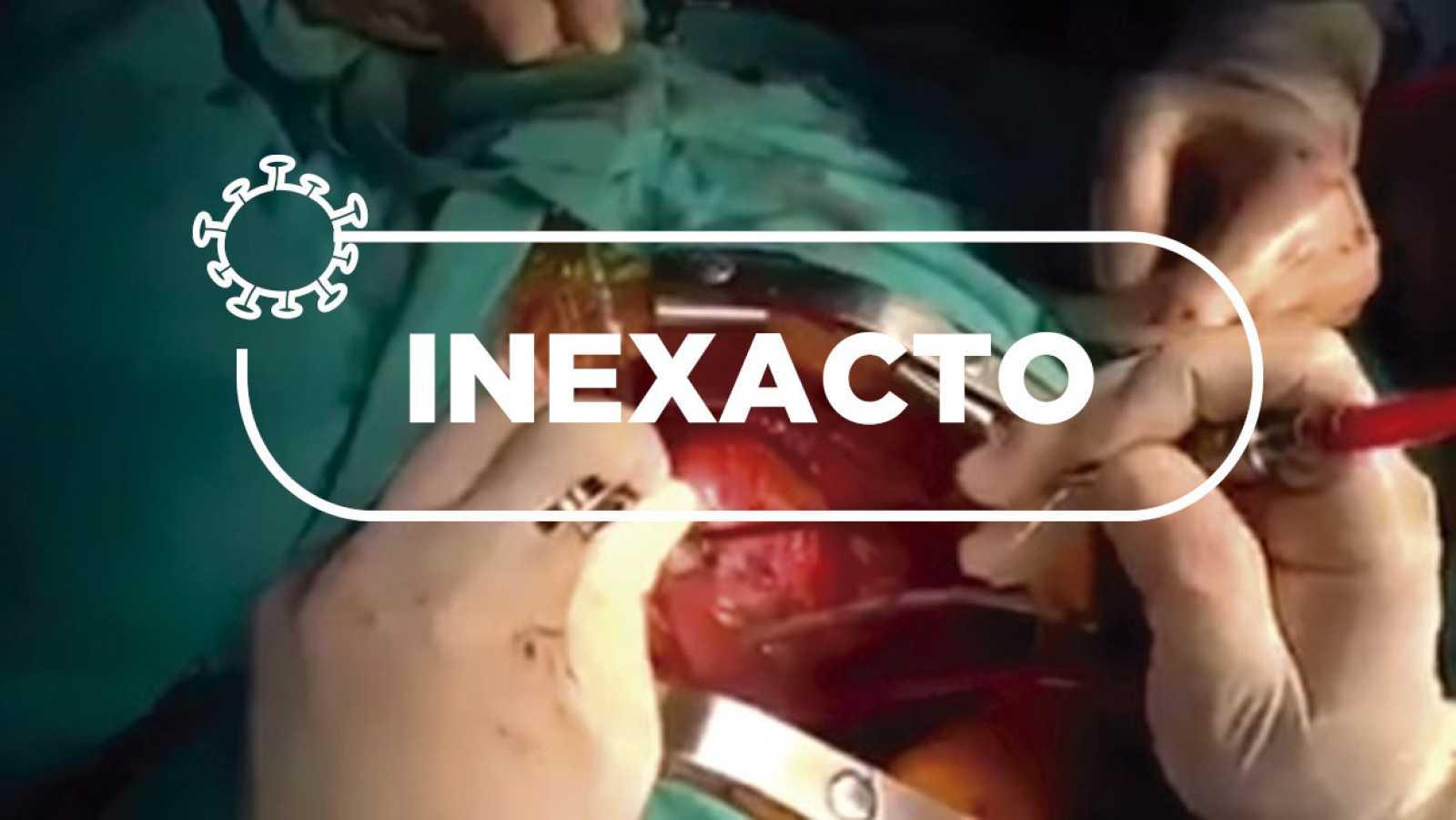 Captura de una imagen del vídeo que se ha vuelto a viralizar con el sello de Verifica RTVE.