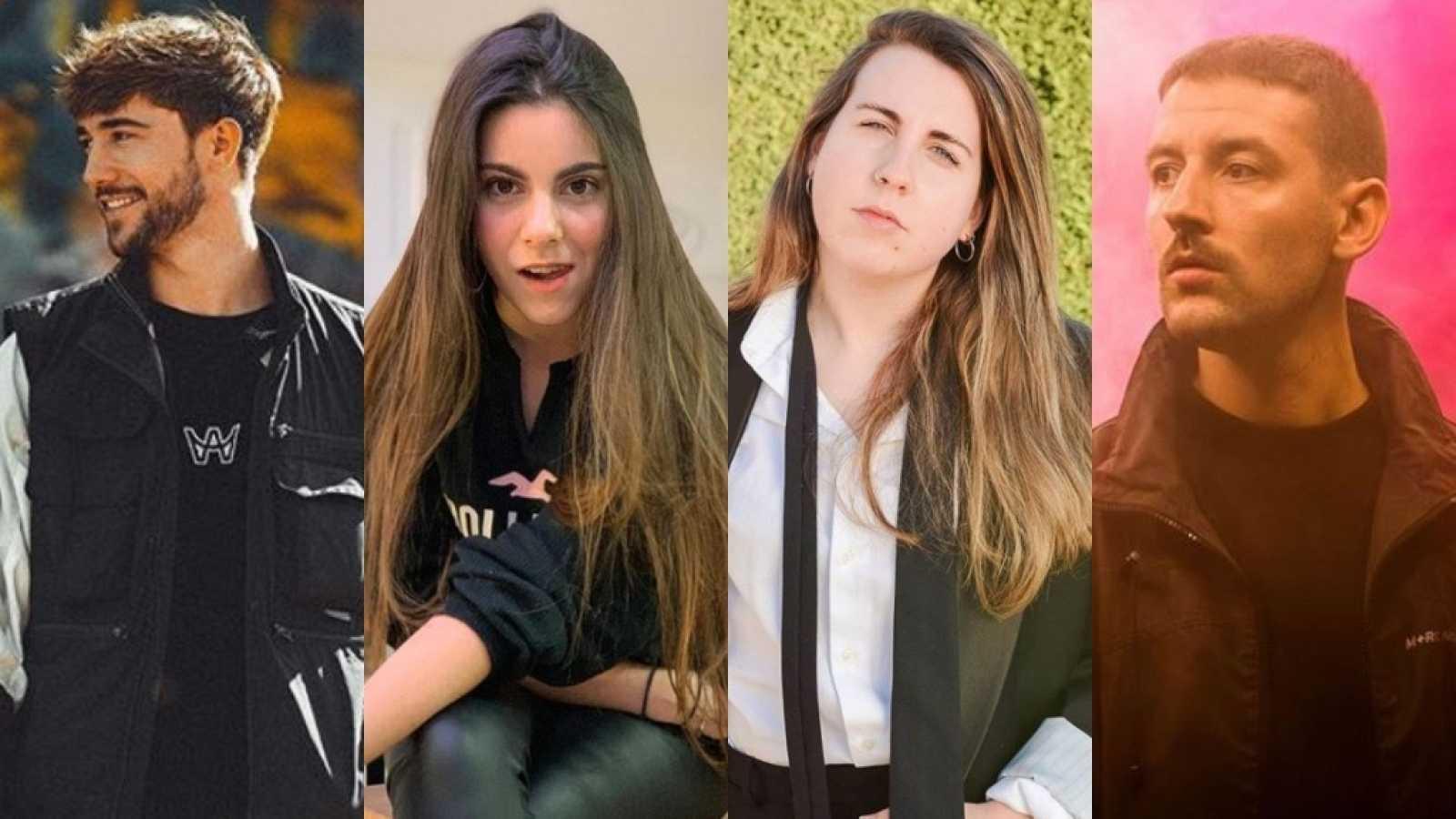 Guille y Shifer What, Martina D'Antiochia, Carolina Iglesias y Erik Urano
