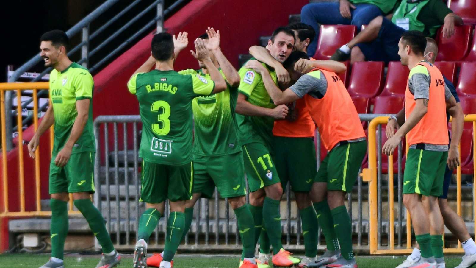 Imagen: Los jugadores del Eibar celebran el gol de Kike García